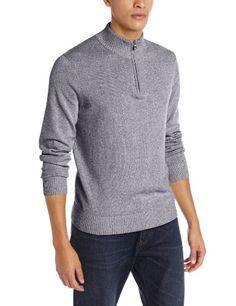 Mega Shop | Perry Ellis Men's Quarter-Zip Mock-Neck Sweater