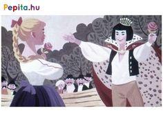 Régi népi mesejáték, a fiatal királyfiról. Az Egyszer volt egy királyfi kezdetű meséket mindenki ismeri. A történetben a királyfi elindul magának feleséget keresni. Felöltözik kocsis ruhába, és nekivág a nagyvilágnak. Hogyan fog végződni a történet? Kiderül a diafilm végén! Írta: Rónai Éva. Rajzolta: Lengyel Sándor. A diafilm kódja: N0448 Snow White, Disney Characters, Fictional Characters, Disney Princess, Anime, Art, Art Background, Snow White Pictures, Kunst