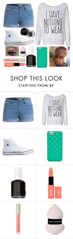 """""""People I know how to do my makeup like so good now ...literally """" by sofiahernandez12 ❤ liked on Polyvore featuring Pieces, Converse, FOSSIL, Essie, NYX, Ilia and Bobbi Brown Cosmetics"""