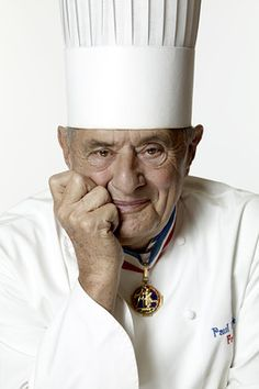 Paul Bocuse is a French chef based in Lyon who is famous for the high quality of his restaurants and his innovative approaches to cuisine.He is one of the most prominent chefs associated with the nouvelle cuisine,which is less opulent and calorific than the traditional cuisine classique, and stresses the importance of fresh ingredients of the highest quality.  My dad knows him ans works for him :D