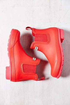 Hunter Original Neon Chelsea Rain Boot- Pink