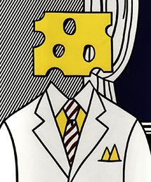 Roy Lichtenstein's 1977 Self Portrait (Pop Art) - Added for Wisconsin Cheese Head Fun -