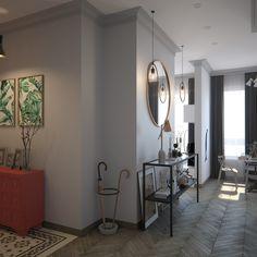 Фото из проекта: Дизайн однокомнатной квартиры площадью 36 кв. м. для молодой семьи в ЖК Грин Парк