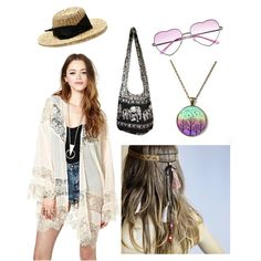 """Feathers"" by heyitsaqua on Polyvore"