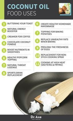 Coconut Oil Food Uses http://www.draxe.com #health #Holistic #natural