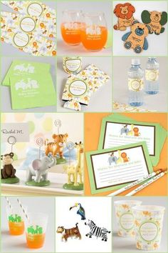 Jungle Baby Shower Theme Party Supply Ideas  #JungleThemedBabyShowerPartyIdeas #JungleBabyShowerThemePartySupplies #BabyShowerJungleTheme Baby Shower Party Favors, Baby Shower Parties, Baby Shower Themes, Baby Boy Shower, Baby Showers, Personalized Baby Shower Gifts, Party Gifts, Party Time, Party Supplies