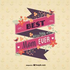 Vintage mother's day ribbon message - Freepik.com-Ribbons-pin-32