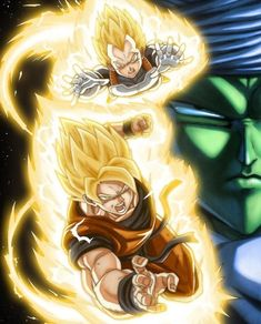 Goku y vegeta ❤<3 / piccolo