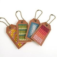 cross stitch tags