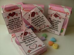 """Conversation"" Bible Verse idea on the blog today using conversation hearts candy.  http://www.made2bcreative.com/blog/?p=3868"