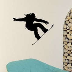 Snowboard Wall Decal Vinyl Sticker Snowboarding от WisdomDecals