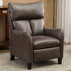 New Anj English Roll Arm Push Back Recliner Chair Microfiber Home Single Sofa Living Room Smoky Grey Online Shopping Aristalook In 2020 Leather Recliner Chair Recliner Chair Recliner