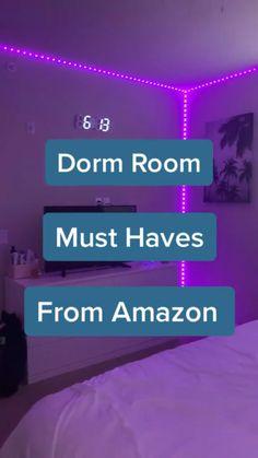 College Life Hacks, Teen Life Hacks, Life Hacks For School, Useful Life Hacks, Cute Bedroom Ideas, Cute Room Decor, Room Ideas Bedroom, Teen Bedroom, Bedrooms