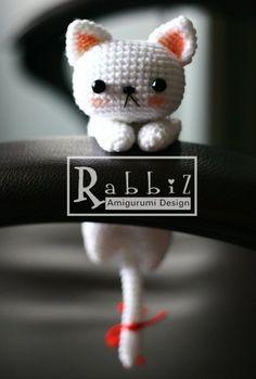 Amigurumi Drooping White Cat Pattern  by Rabbiz Design