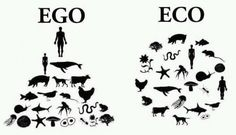 Ego Eco -- Pyramid vs circle #Infographic #sustainability