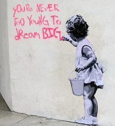 Street art by Hijack Yarn Bombing, Graffiti, Les Stickers, Street Art, Precious Children, Banksy, Urban Art, Dream Big, Cool Words