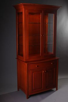 Curved Front Cherry China Cupboard - Reader's Gallery - Fine Woodworking