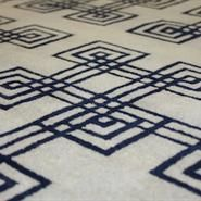 This Is A Navy Cream Geometric Designer Rug From The Elishments Signature Series Click Here Www Therugest Com To See More Designs