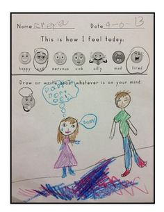 Daily Check In Activity Sheet- quickly see how kids are feeling and who might need extra support that day.