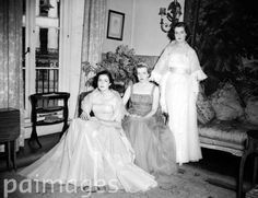 (Far Right) Frances Shand-Kydd aged 17, when she was Frances Roche, prior to her coming out ball in May 1953.