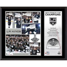 "Los Angeles Kings Fanatics Authentic 12"" x 15"" 2014 Stanley Cup Champions Sublimated Plaque with Game-Used Ice-Limited Edition of 250"