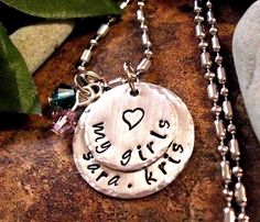 Hey, I found this really awesome Etsy listing at https://www.etsy.com/listing/181634148/my-girls-personalized-jewelry-mommy