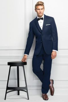 New Michael Kors Suit Available at Ella Park Bridal with Jim's Formal Wear | Newburgh, IN | 812.853.1800 | Michael Kors - Navy Sterling