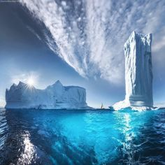 Disko Bay, Greenland Photo by Tag your friends. Landscape Photography, Nature Photography, Travel Photography, Images Ciel, Greenland Travel, Voyager Seul, Bay Photo, Vacation Trips, Vacations