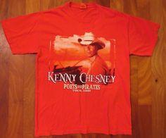 Kenny Chesney Poets & Pirates 2008 Concert Tour T-Shirt - Medium