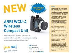 Now renting, the ARRI WCU-4 Wireless Compact Unit -- the perfect toolset for wirelessly controlling lens and camera functions on set. Learn all about it from RBC Engineer Tim Coughlan on vimeo at https://vimeo.com/171927217. Contact us for details: answers@rule.com or 800-rule-com.
