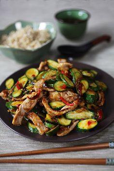 Zucchini/pork Chinese