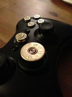 XBox 360 Brass Bullet Casing Buttons Pro Install by ParacordGuru