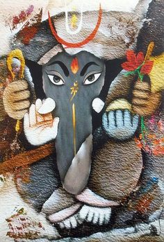 Lord Ganesha - Hindu Posters (Reprint on Card Paper - Unframed) Ganesha Drawing, Lord Ganesha Paintings, Ganesha Art, Shri Ganesh, Ganesh Lord, Spiritual Paintings, Ganesh Images, Ganesha Pictures, Shiva Art