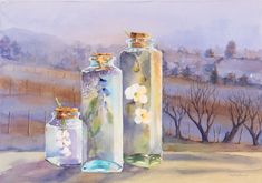 Delphine Poussot - Official website of watercolor artist, Delphine Poussot | Fine art, watercolor landscapes, watercolor still life, award winning watercolors.