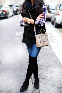 Black And White Casual Chic Nautical Sweater by With Love From Kat Fall Winter Outfits, Autumn Winter Fashion, Winter Style, Fall Fashion, Fashion Tips, White Casual, Casual Chic, Black White, Coco Chanel