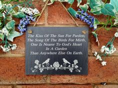 Kiss Of The Sun Slate Signs House Plaques Garden Signs