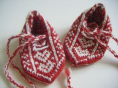 Childrens fair isle slippers