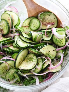 Dill Cucumber Salad and 5 more super simple cucumber salad recipe links on foodiecrush.com #recipe #summersalad