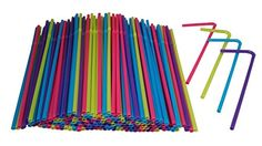 Hanamal Colored Disposable Flexible Drinking Straws (450pcs) Hanamal
