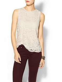 Joie Sasa Silk Lace Top | Piperlime