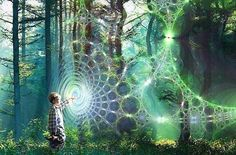 We are connected with All through an infinite invisible web of powerful energies. It is everywhere including within us.