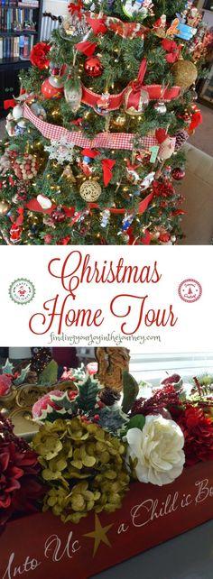 christmas home tour vintage christmas, farmhouse christmas, country christmas…