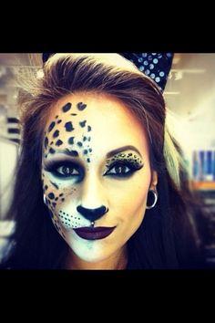 Leopard makeup idea for halloween