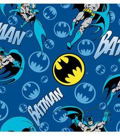 Dc Comics Batman Bat Signal Logo Flannel Fabric