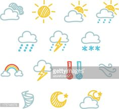 Vector Art : Weather Icon Set - Doodle