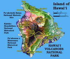 Hawai'i Volcanoes Map