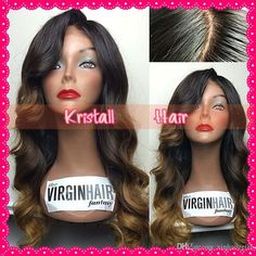 Ombre Wig Brazilian body wave Virgin Hair Full Lace Human Hair Wigs Glueless Full Lace Wigs Lace Front Wigs For Black Women