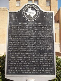 The Gray And The Blue, Paducah, Texas Historical Marker