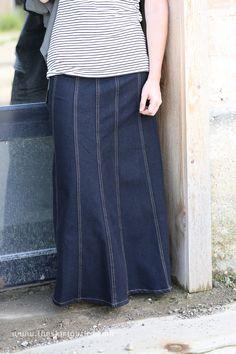 Alayna Modest Denim Skirt