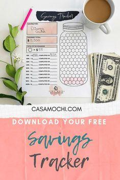 Best Free Savings Tracker for any Savings Goal! Print yours Now! The best, free savings tracker you can use for Debt Tracker, Tracker Free, Saving Tracker, Money Saving Challenge, Money Saving Tips, Saving Ideas, Money Tips, Managing Money, Savings Challenge